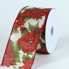 christmas ribbon wholesale flower design 10 yards wholesale ribbons supplier united states