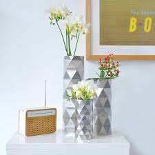 geometric silver vase by another studio notonthehighstreet com