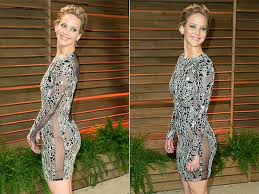 Jennifer Lawrence Vanity Fair Party Jennifer Lawrence Not Wearing Knickers To A Party Fooyoh