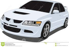 mitsubishi white white mitsubishi evolution royalty free stock images image 8541799