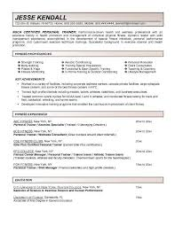 Soccer Coach Resume Samples by Job Resume Personal Trainer Resume Examples Free Personal Trainer