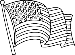 Waving American Flag American Flag Coloring Pages Book Free Printable Kids Sheet Pdf