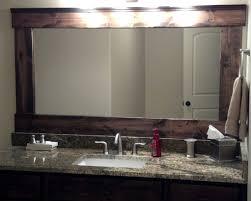 distressed wood bathroom mirror vanity decoration