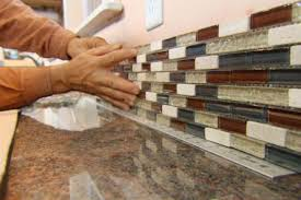 install backsplash in kitchen kitchen installing kitchen tile backsplash hgtv glass mosaic in