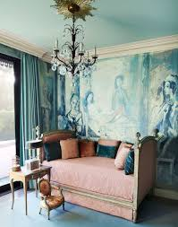 Pottery Barn Celeste Chandelier Traditional Guest Bedroom With Mural U0026 Chandelier Zillow Digs