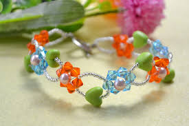 bead flower bracelet images 2015 new craft glass bead flower bracelet henry craft jewels jpg