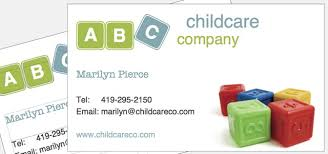 childcare business cards business card childcare company theme istudio publisher page