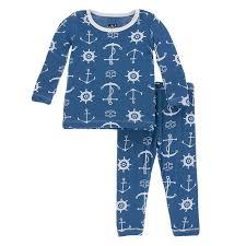sweater pajamas twilight anchor print sleeve pajama set