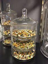 Bathroom Glass Storage Jars Glass Bathroom Jar Ebay