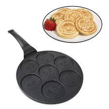 details about pancake pan non stick emoji pan griddle flip