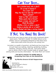 the boy u0027s guide to home skills preparing your son on the