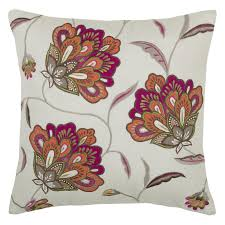 Rizzy Home Embroidered Jacobean Floral Decorative Throw Pillow