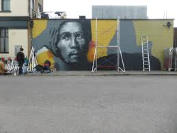 brockley street art festival 2015 london calling blog work in progress from dale grimshaw which was put up as part of the bring back bob campaign which was focused on replacing a large mural of bob marley