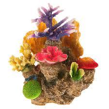 top fin bright coral rock aquarium ornament fish ornaments