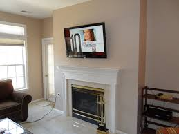 home decor awesome mounting tv on brick fireplace designs and