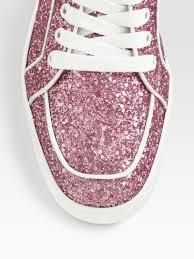 christian louboutin rantus orlato glitter sneakers in pink lyst