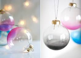 awesome diy ombre glass ornaments for winter decor shelterness