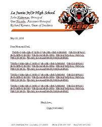 graduation parent letter ljhs dept
