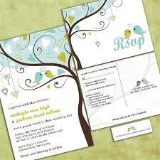bird wedding invitations birds in a tree wedding invitation tweet tweet