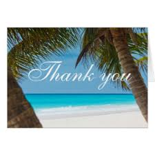 palm tree thank you cards greeting photo cards zazzle