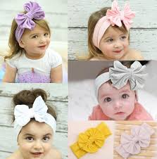 baby girl headwraps new baby girl s elastic cloth bow headband stretch solid color bow