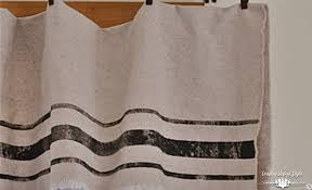 Feed Sack Curtains Grain Sack Inspired Curtains Country Design Style