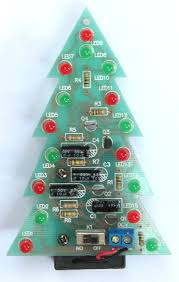 diy kit red green flash led christmas tree 5107 from icstation on