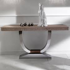 Designer Console Tables Modern Console Table Leather The Building Modern