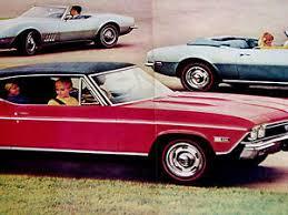 chevelle camaro 1968 chevy camaro chevelle ss 396 print ad poster sign photo