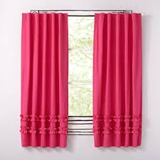 Pink Ruffle Blackout Curtains Curtain Elegant Decor Ruffled Pink Curtains Ideas Curtains Pink
