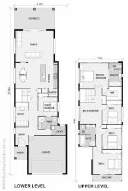 narrow lot house plans 19 best small lot house floorplans images on