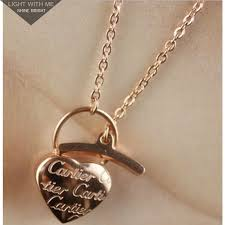 cartier heart necklace images Cartier heart lock charm necklace in 18k pink gold cartier jpg