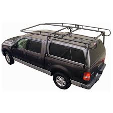 Ford Raptor Truck Shell - full size truck camper shell contractors rack black
