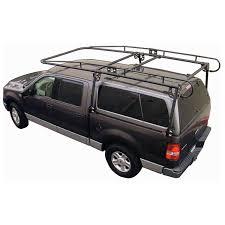 Dodge Dakota Truck Bed Cap - full size truck camper shell contractors rack black