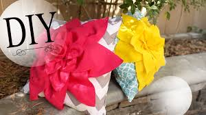 Diy Room Decor Easy Owl Pillow Sew No Sew Diy Room Decor How To Make A Cute Flower Pillow Youtube