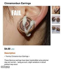 cinnamon bun earrings fail fail fails