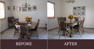 View Our Before  After Photos Of Staged Homes For Sale - Dining room staging