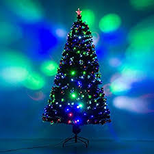 Christmas Tree With Optical Fiber Lights - amazon com 6 u0027 pre lit color changing fiber optic artificial