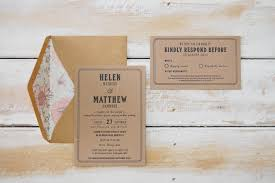 wedding invitations queensland kraft floral letterpress