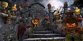 concept art deadly halloween gardeners 3d fantasy