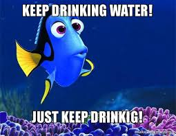 Drinking Water Meme - keep drinking water just keep drinkig dory from nemo 5 second