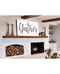 Rustic Home Decor For Sale Spectacular Deal On Gather Sign Gift For Her Wall Art Rustic Home