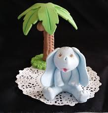 elephant cake topper jungle cake topper blue elephant baby