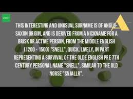 where does the name snell come from