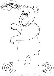 teletubbies bear lion color sketch coloring