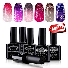 amazon com soak off uv led gel nail polish mood changing