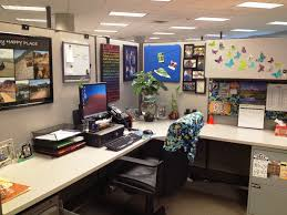 Decorating Ideas For Office Space Office Cubicle Ideas For Office With L Shape Desk And Divider
