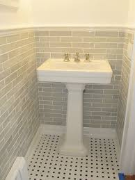 Subway Tiles Bathroom Handmade Subway Tile Kitchen Farmhouse With Antique Island Bin