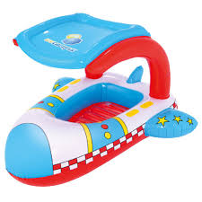 inflatable childs kids swim pool seat boat bestway space rocket