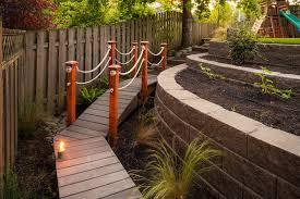 Backyard Bridge Innovative Backyard Playground Equipmentin Landscape Traditional